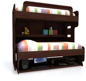 Double Decker Bunk Bed - Hiddenbed USA - Double Your Space 1-866-673 ...